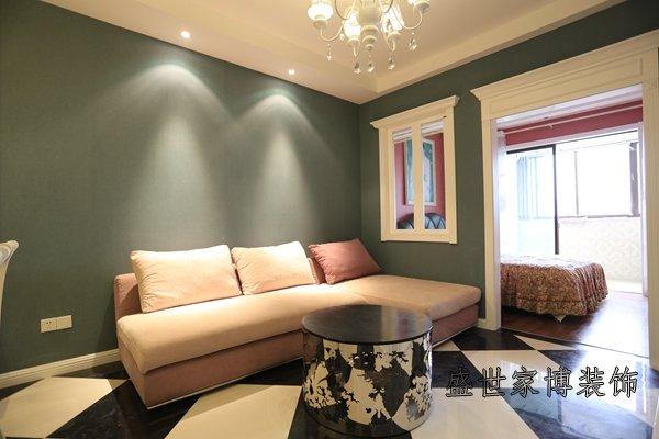 60平小户型客厅装修实景图