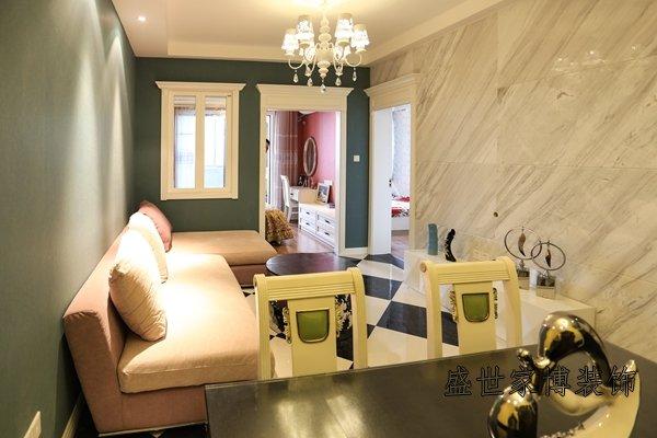 二室二厅小户型客餐厅装修实景图