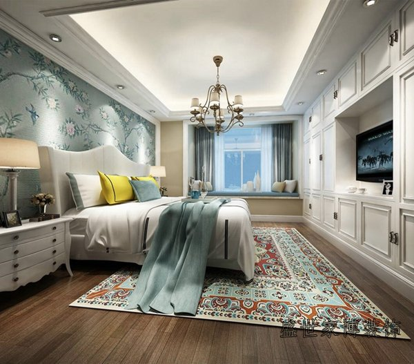 loft公寓装修设计效果图 普陀龙湾样板间装修设计效果图 使用面积100平左右,风格上,设计师并没有去做国内比较主流的欧式或美式。设计师定义为轻奢的现代美式,颜色明快,但是有层次,整体空间达到雅致与高档的平和点是设计师风格设计最重要的一点。营造出温馨及舒适的居住空间,空间须适度留白,结合并运用金属的华丽、实木的温润、软装的明艳,平衡地营造出以人为本的居住空间。